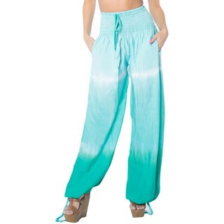 La Leela Women Soft Rayon Lightweight Sleepwear Casual Lounge Pajama Pant Green