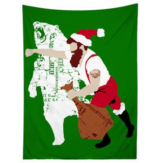 Sharp Shirter Christmas Bear Punch Tapestry