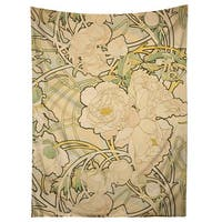 Sharp Shirter Alphonse Mucha/ Peonies/ Flowers/ Art Nouveau Tapestry