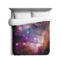 """Sharp Shirter Under The """"""""wing"""""""" of The Small Magellanic Cloud Duvet Cover"""