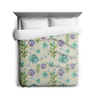 Sharp Shirter Succulent Pattern/ Plant Duvet Cover/ Printed in Usa