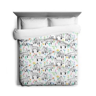 Sharp Shirter Floral Foxes/ Duvet Cover