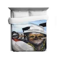 Sharp Shirter Sloth Vegas/ Las Vegas/ Funny Sloth Duvet Cover