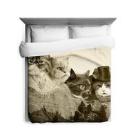 Sharp Shirter Meowmore Duvet Cover