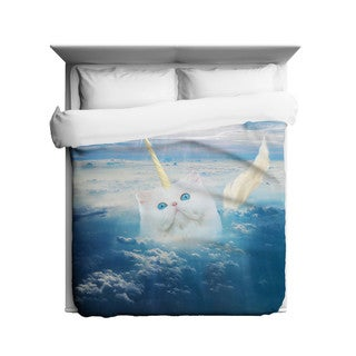 Sharp Shirter Caticorn Duvet Cover