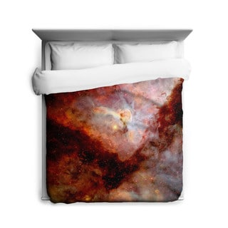 Sharp Shirter Red Carina Nebula Duvet Cover