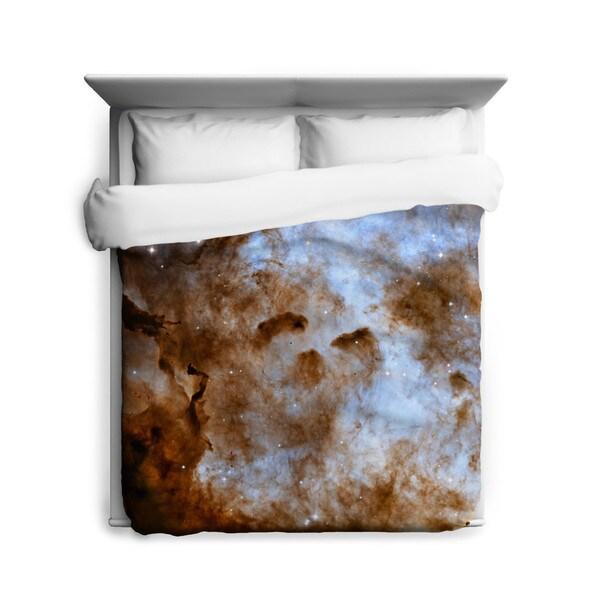 Sharp Shirter Cosmic Ice Sculptures in The Carina Nebula Duvet Cover