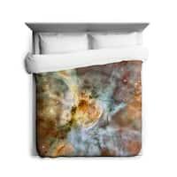 Sharp Shirter Carina Nebula Close-up Duvet Cover