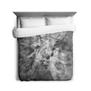 Sharp Shirter Black and White Carina Nebula Duvet Cover