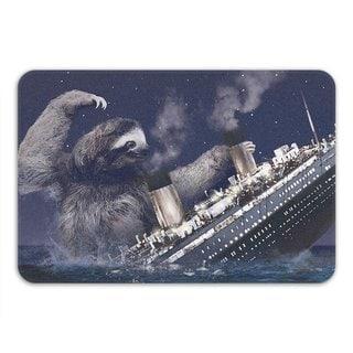 Sharp Shirter Slothberg Memory Foam Bath Mat