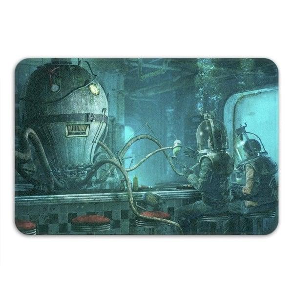Sharp Shirter Octopus Diner Memory Foam Bath Mat