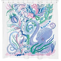 Sharp Shirter Octoparty White Shower Curtain