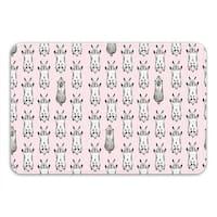 Sharp Shirter Jumping Bunnies Memory Foam Bath Mat