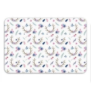 Sharp Shirter Floral Antlers Memory Foam Bath Mat