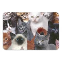 Sharp Shirter Cats For Days Memory Foam Bath Mat