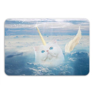Sharp Shirter Caticorn Memory Foam Bath Mat