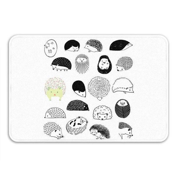Sharp Shirter 20 Hedgehogs Memory Foam Bath Mat