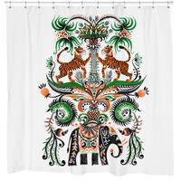 Sharp Shirter Tiger Tiger Shower Curtain