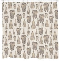 Sharp Shirter Teeth Shower Curtain