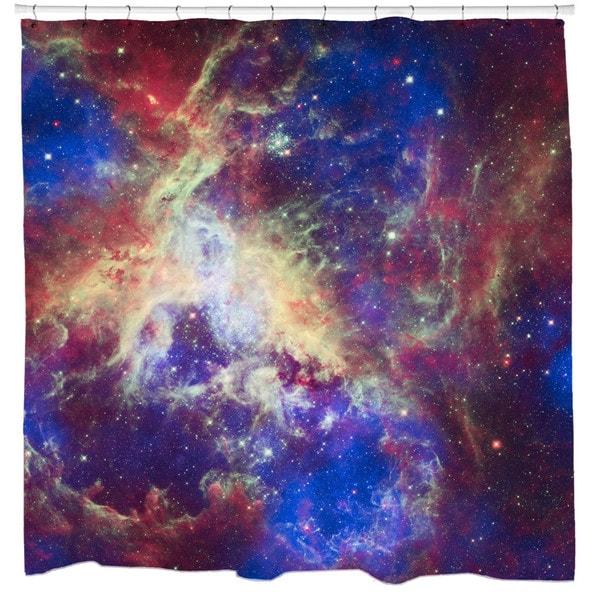 Sharp Shirter Tarantula Nebula Shower Curtain