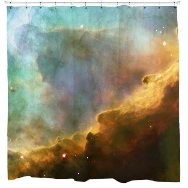 Sharp Shirter Storm in The Swan Nebula Shower Curtain