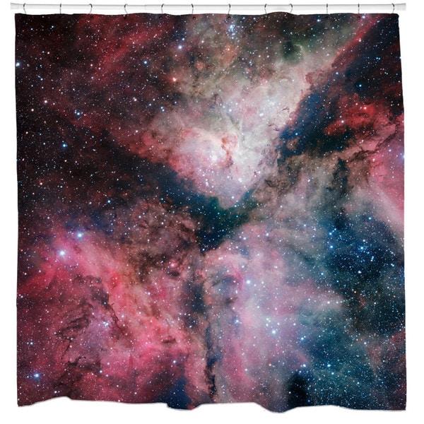 Sharp Shirter Star-forming Carina Nebula Shower Curtain