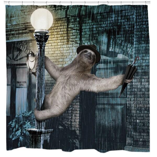 Sharp Shirter Slothin' in The Rain Shower Curtain
