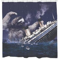 Sharp Shirter Slothberg Shower Curtain
