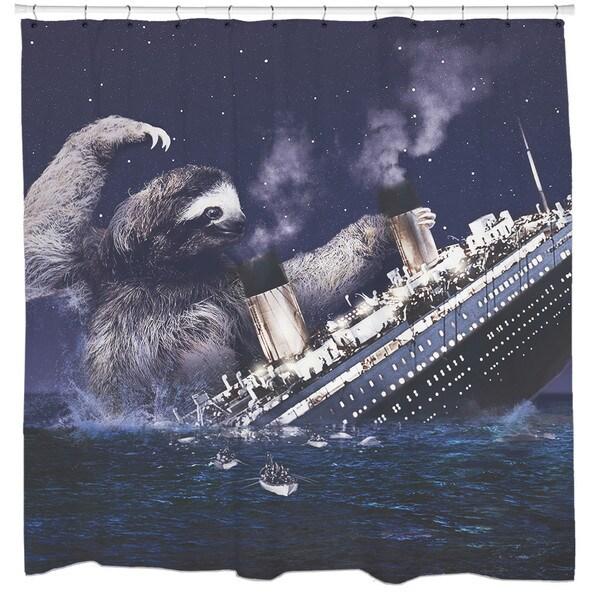 Sharp Shirter Slothberg Shower Curtain