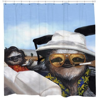 Sharp Shirter Sloth Vegas Shower Curtain