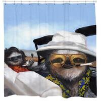 Sharp Shirter Sloth Vegas Shower Curtain