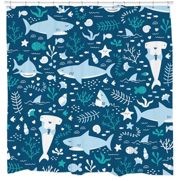 Sharp Shirter Sharks Life Shower Curtain