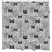Sharp Shirter Shady Cats Shower Curtain