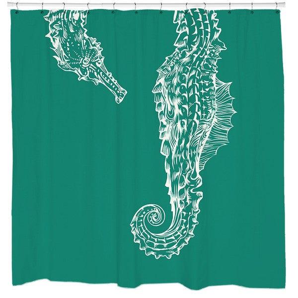 Sharp Shirter Seahorse Hug Shower Curtain