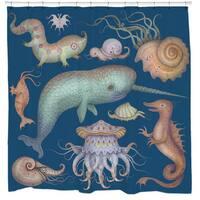 Sharp Shirter Sea Creatures Shower Curtain