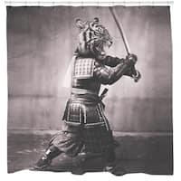Sharp Shirter Samurai Tiger Shower Curtain