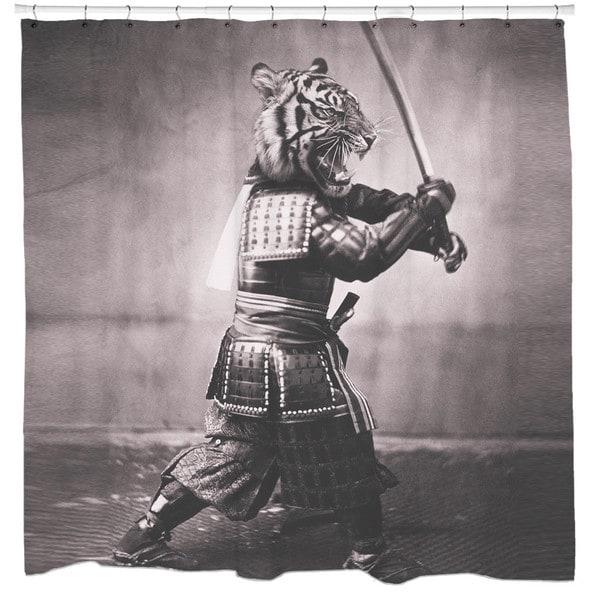 Sharp Shirter Samurai Tiger Shower Curtain