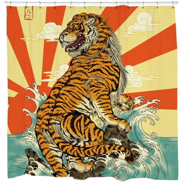 Sharp Shirter Rising Tiger Shower Curtain
