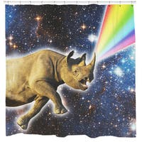 Sharp Shirter Rhinocorn Shower Curtain
