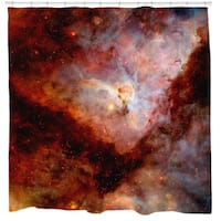 Sharp Shirter Red Carina Nebula Shower Curtain