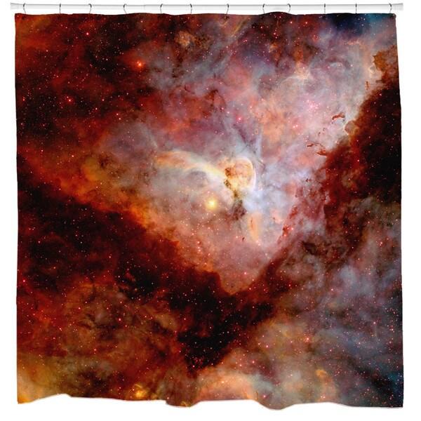 Sharp Shirter Red Carina Nebula Shower Curtain