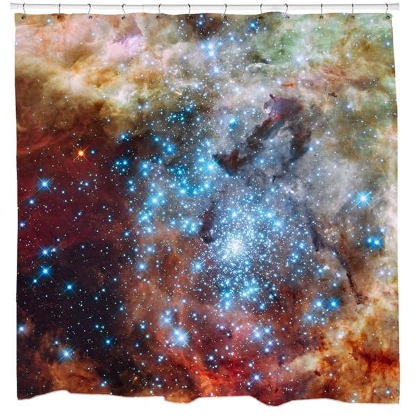 Sharp Shirter R136 Super Star Cluster Shower Curtain