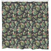 Sharp Shirter Prickly Pattern Shower Curtain