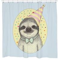 Sharp Shirter Party Sloth Shower Curtain