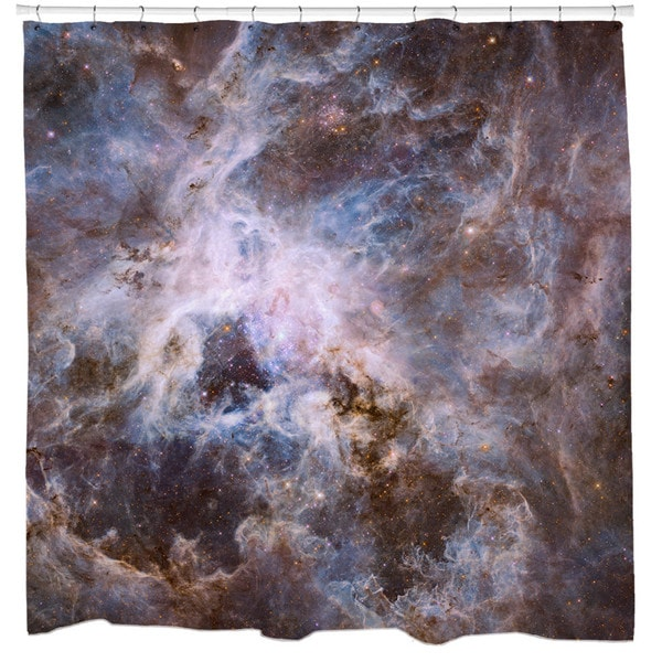 Sharp Shirter Optical View of Tarantula Nebula Shower Curtain