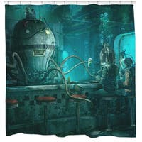 Sharp Shirter Octopus Diner Shower Curtain