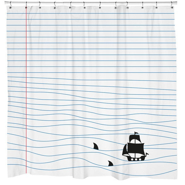 Sharp Shirter Notepad Sharks Shower Curtain