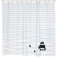Sharp Shirter Notepad Sharks Shower Curtain