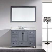 Shop Elise Inch Single Sink Bathroom Vanity White Marble With - 48 gray bathroom vanity
