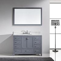 Shop Elise Inch Single Sink Bathroom Vanity White Marble With - 48 gray bathroom vanity